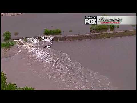 Raw Video - Levee breaches near St  Charles RV storage area causing  flooding concerns