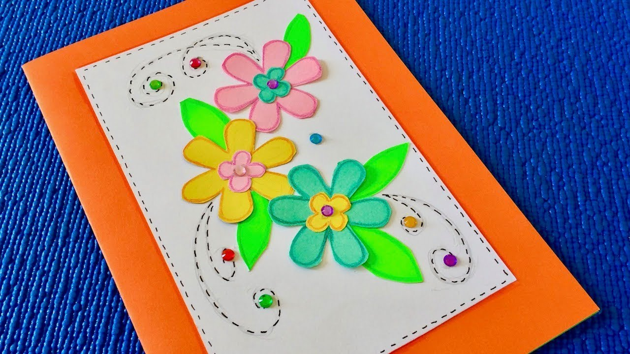 Как оформить открытку бабушке на день рождения внутри