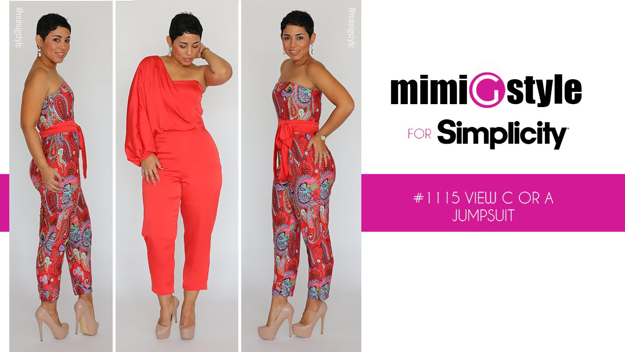 How To Sew The Mimi G Style For Simplicity Pattern 1115 Tutorial View A Or C Jumpsuit Youtube