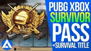 PUBG Xbox/PS4 Update – Survival Title System, Survivor Pass & New Military Uniform Set