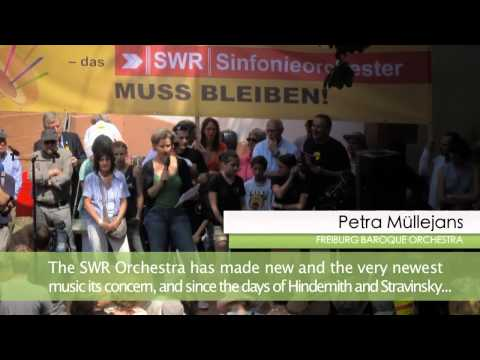 DEMONSTRATION FOR THE PRESERVATION OF THE SWR SYMPHONY ORCHESTRA BADEN-BADEN/FREIBURG
