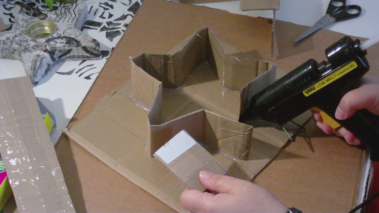 Beton giessen - DIY - stehenden Stern in einer selbst gemachten ...