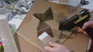 Beton giessen - DIY - stehenden Stern in einer selbst gemachten Pappform giessen/