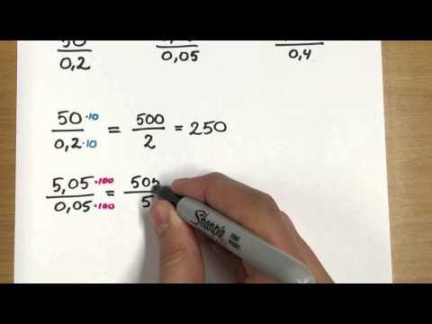 dividere med decimaltal