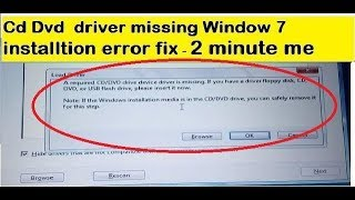 Fixed : A Required CD/DVD Drive Device Driver is Missing For Window 7 Installation|Technology up