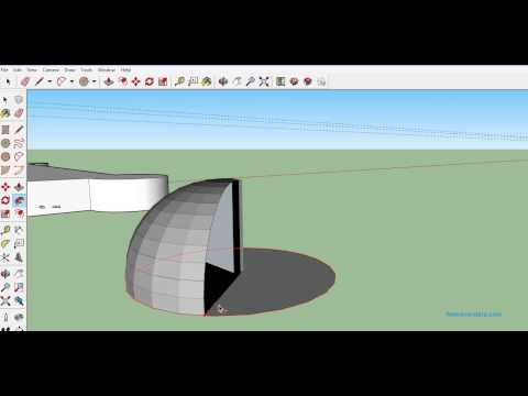 Tutorial - How to make Hemisphere and Cone in Google Sketchup?
