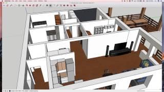 Обзор проекта одноэтажного дома в 3D(, 2017-01-14T10:57:39.000Z)