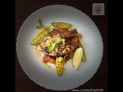 Indian spiced salmon | Tomato Chutney | Sautéed Parval | By Chef Ashish