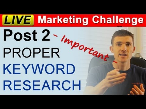 How To Do PROPER Keyword Research For Your Local Business - Live Marketing Challenge Post 2