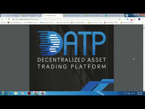 BOUNTY DATP {Decentralized Asset Trading Platform