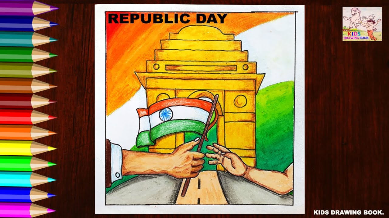 Kids Drawing Book Republic Day Special Drawing For Kids Step By Step Hd New 2020 Youtube Happy republic day drawing competition images. youtube