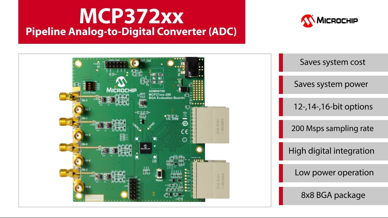 Mcp372xx Pipeline Analog To Digital Converter Youtube Integrated Electronics And Circuits Systems