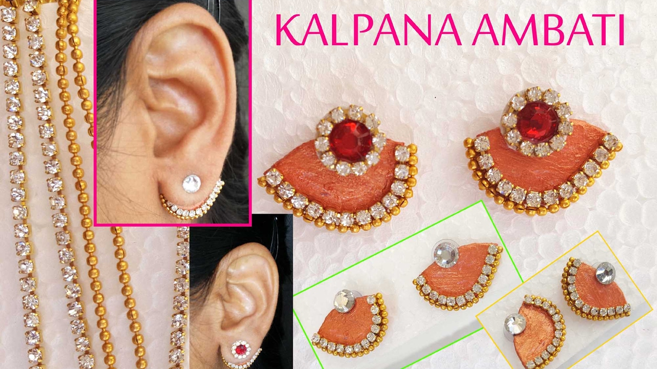 How To Make Earrings Made Out Of Paper Back Studs Ear Cuff Diy At Home