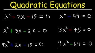 How To Solve Quadŗatic Equations By Factoring - Quick & Simple!