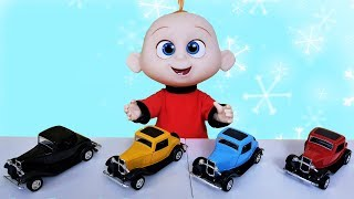 Johny play with colored cars, Learn Colors With, for kids
