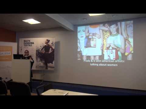 Lara Aragno presentation at Fashion Creativity Seminar in Riga 04.04.2014