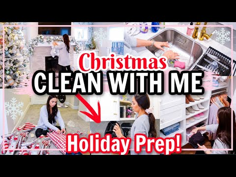 CHRISTMAS 2020 CLEAN WITH ME! HOLIDAY PREP! WINTER CLEANING MOTIVATION!   Alexandra Beuter