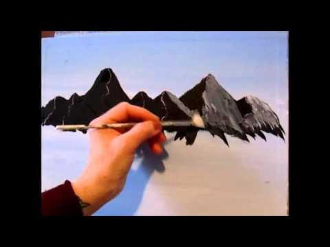 3 Easy Steps To Painting A Mountain With Acrylic Paint For The