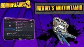 Borderlands 3 | Mendel's Multivitamin Unique Shield Guide (Health Tank!)