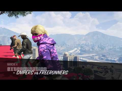 SNIPERS VS FREERUNNERS GTA 5 ONLINE