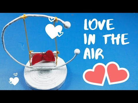 DIY beautiful swing | newspaper swing craft | DIY paper heart showpiece | how to make paper swing