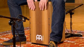 MEINL Percussion SCP100WN Snarecraft Professional Cajon - Walnut