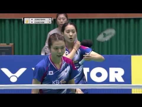 Jeju Victor Korea Masters 2016 | Badminton F M3-WD | Jung/Shin vs Chae/Kim
