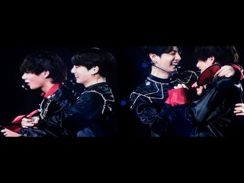 Jungkook hugs taehyung to apologize and tae looks emotional (taekook vkook analysis)