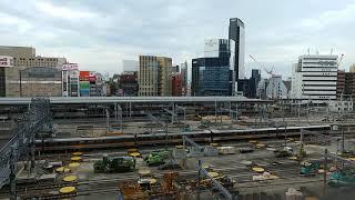 2/2 リニア中央新幹線の工事に備えるためのJR名古屋駅構内の在来線ホームの撤去作業工事 2019.9.28