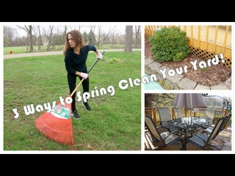 3 Ways to Spring Clean Your Yard |  Clean with Me!