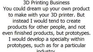 3D Printing Business,best small business ideas 小型企業項目 ছোট ব্যবসা প্রকল্প लघु व्यवसाय परियोजनाओं چھوٹ