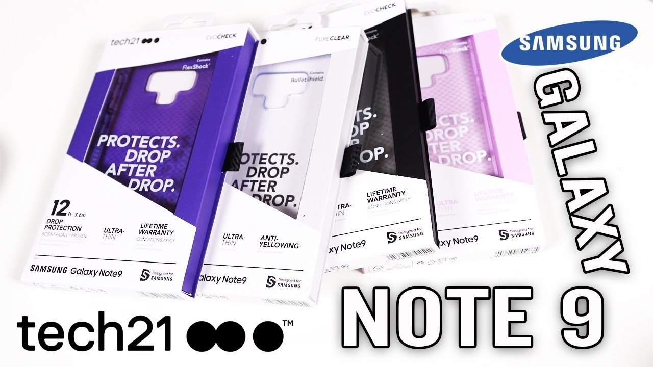 separation shoes b0fe8 79299 Samsung Galaxy Note 9 Tech21 Case LineUp EVOCheck PUREClear