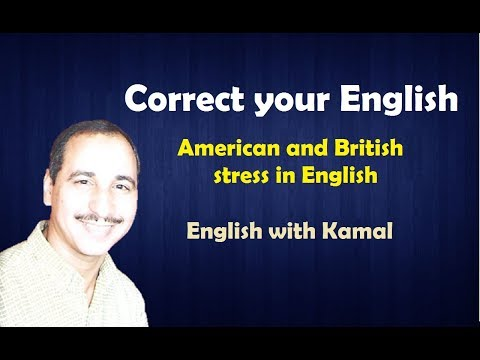 American and British stress in English.