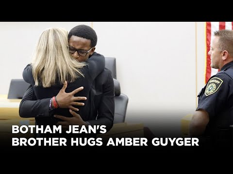 'i-forgive-you':-botham-jean's-brother-hugs-amber-guyger-after-she-gets-10-years-in-prison