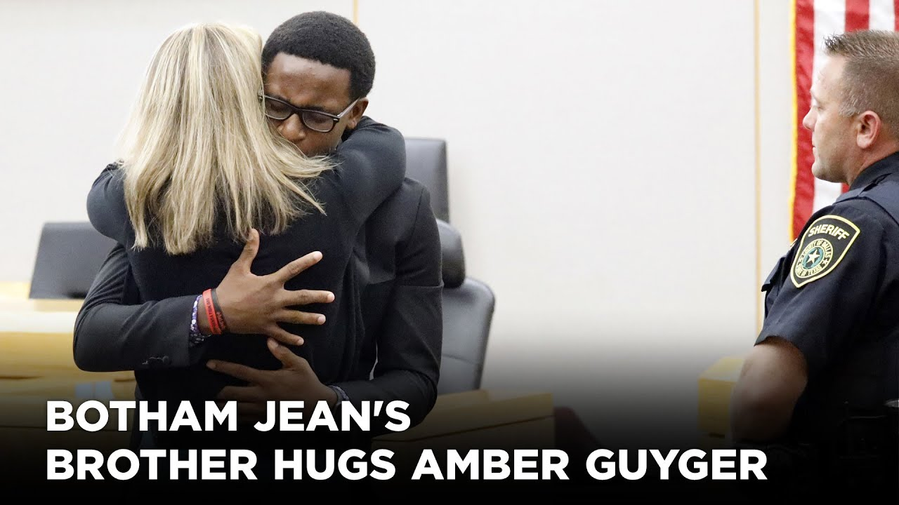 'I forgive you': Botham Jean's brother hugs Amber Guyger after she gets 10 years in p