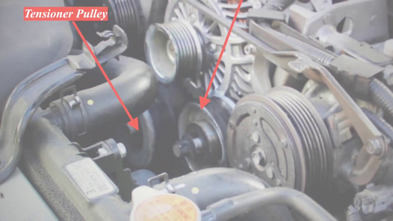 subaru 3 0l tensioner and idler pulley replacement [ 1280 x 720 Pixel ]