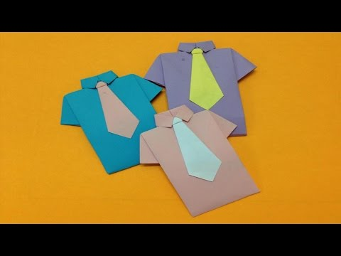 How to make paper shirt and neck tie | Easy origami shirts  for beginners making | DIY-Paper Crafts