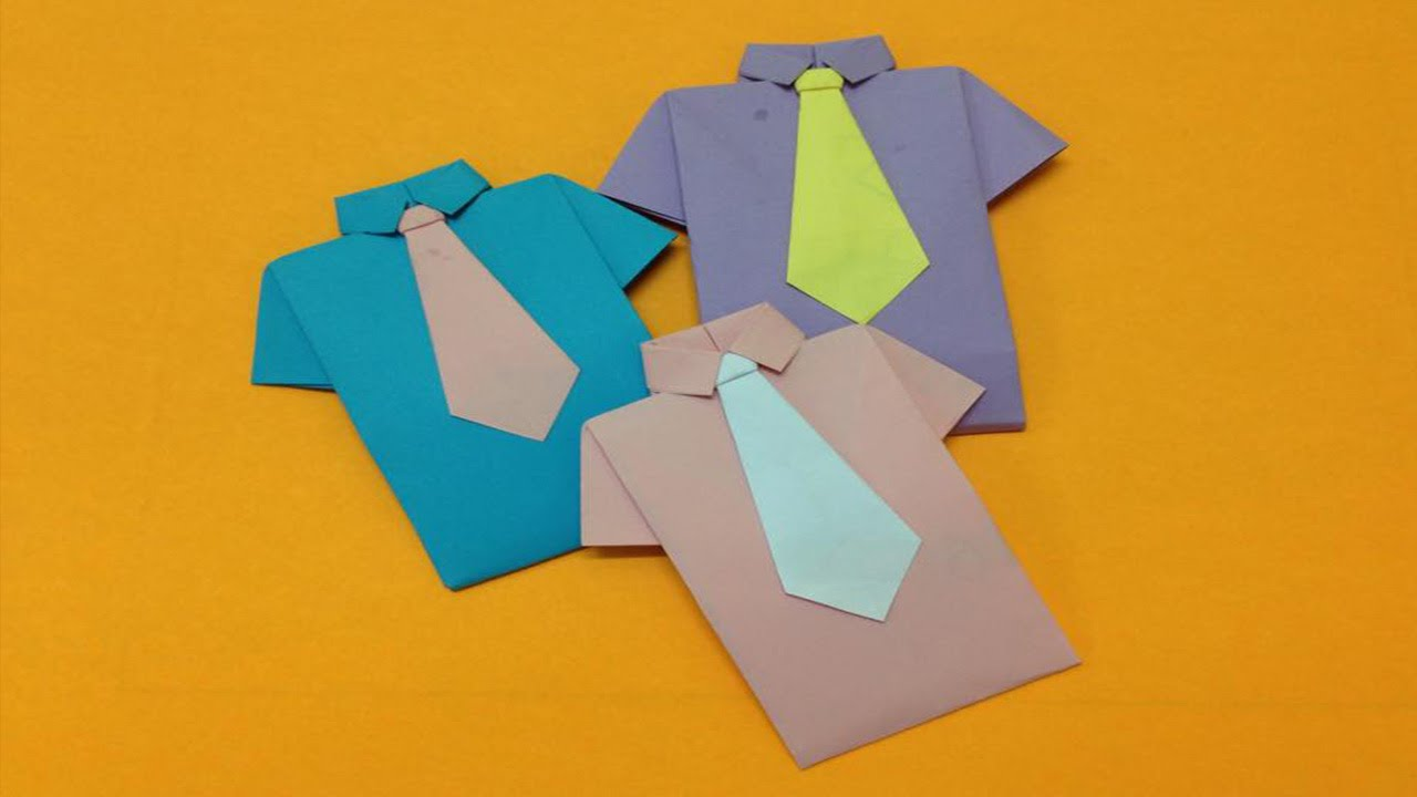 how to make paper shirt and neck tie easy origami shirts for beginners making diy paper crafts