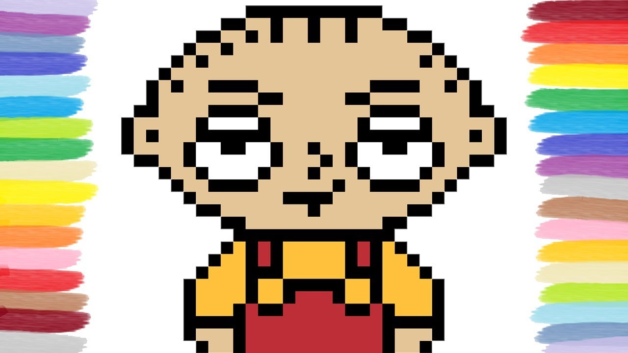 How To Draw Stewie From Family Guy Pixel Art Youtube