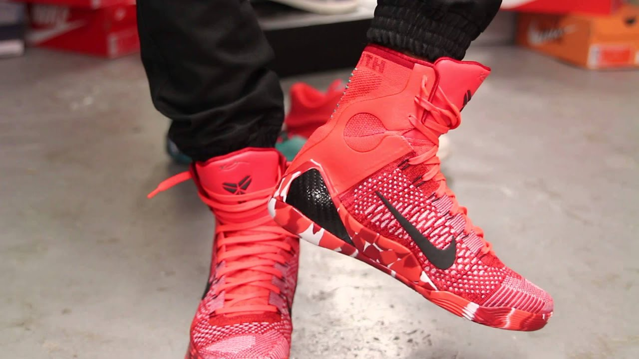 Kobe 9 Elite Christmas.Nike Kobe Ix Elite Christmas On Feet Video At Exclucity