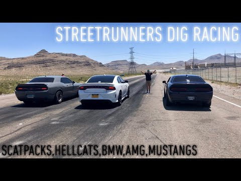 2019 Hellcat Charger vs Challenger Scatpack Plus CTV,AMG,Mustangs etc.DIG RACING**MUST WATCH**
