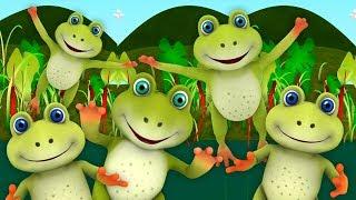 пять маленьких крапчатых лягушек | Five Little Speckled Frogs | потешки для детей | детские стишки