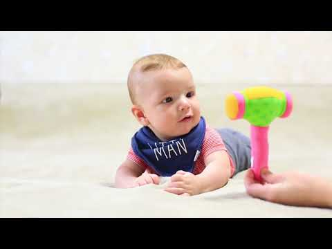Развивающие занятия для детей от 3 до 6 месяцев: ПОЗНАЕМ СВОЕ ТЕЛО (часть 2)