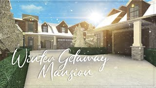 ROBLOX || Welcome to Bloxburg: Winter Getaway Mansion || Speedbuild