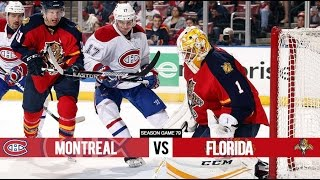 Montreal Canadiens vs Florida Panthers - Season Game 79 - All Goals (2/4/16)