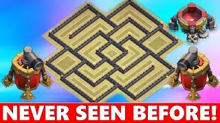INSANE Town Hall 9 (TH9) War Base Defense! Anti Everything 2015! | Clash Of Clans