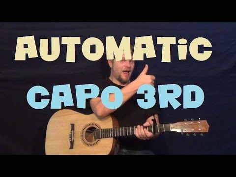 Automatic (Miranda Lambert) Easy Strum Guitar Lesson How to Play Tutorial Capo 3rd