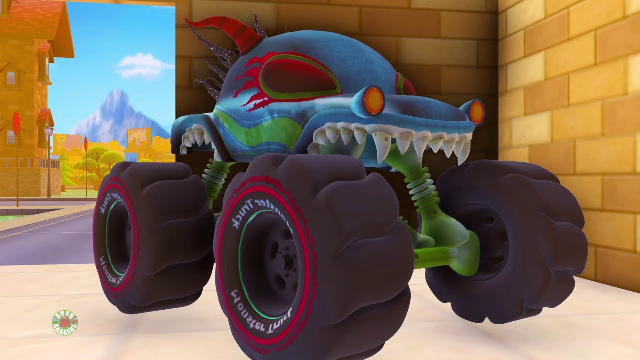 We are the monster trucks | Frank The Garbage Truck | Road Rangers Go Missing | Wheels On The Bus