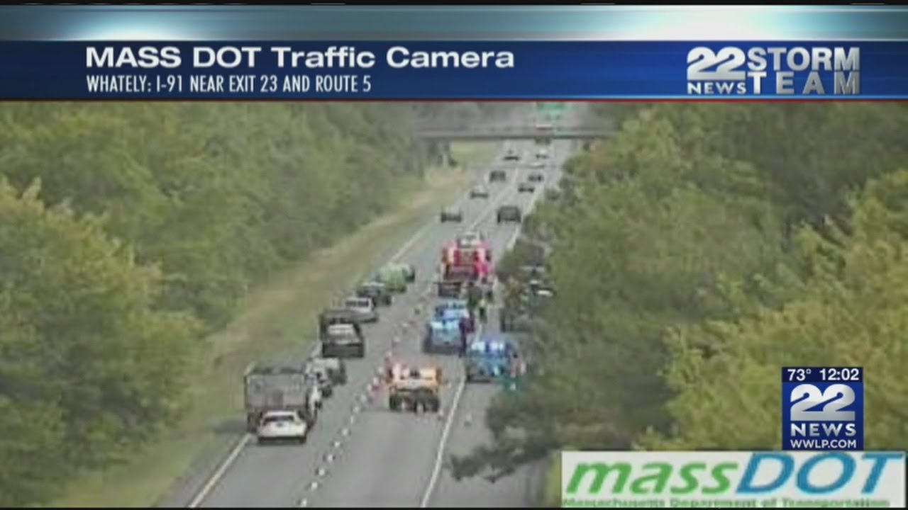 5 seriously injured in ambulance rollover crash on I-91N in Whately