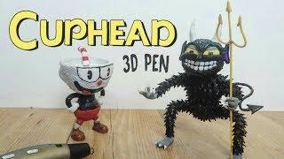 3D Pen | Making Cuphead and The Devil | Final Boss | Haciendo a Cuphead y al Diablo con el lapiz 3D